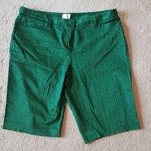 Laundry green bermuda shorts